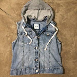 Hooded denim vest. Size Medium. Perfect condition